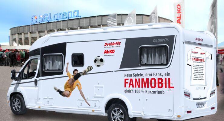 Als Sponsor des FC Augsburg ruft Alko mit Dethleffs eine besondere Fan-Aktion ins Leben: das Fanmobil.