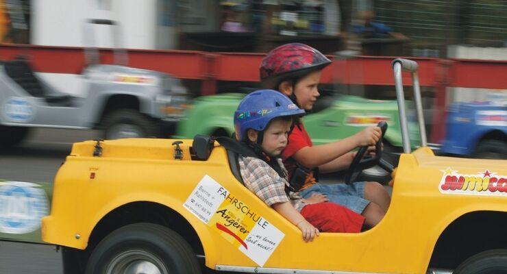 Auf dem Caravan Salon Düsseldorf vom 27. August bis 4. September können Kinder ab sieben Jahren einen Führerschein erwerben