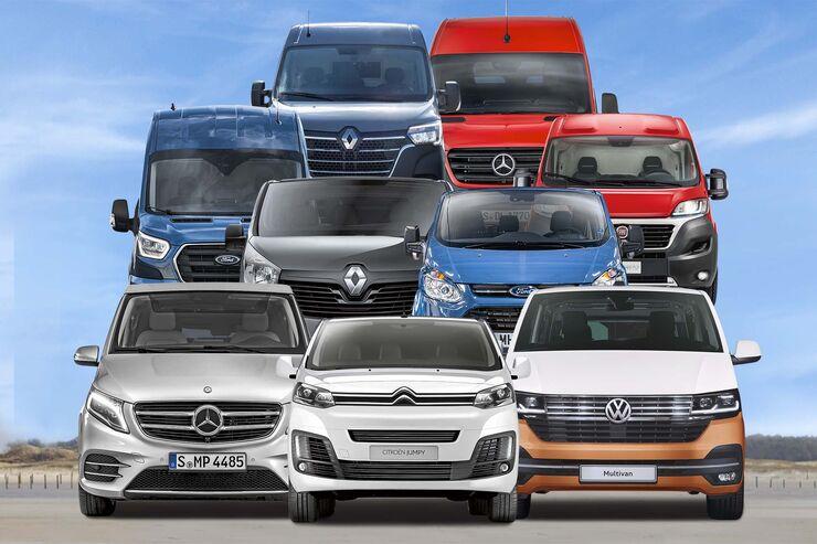 12 aktuelle Wohnmobil-Basisfahrzeuge imÜberblick: Alle Vorteile und Nachteile von Fiat, Mercedes, VW &Co.