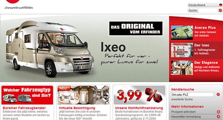 Bürstner Internet  Reisemobil Caravan Wohnmobil Wohnwagen