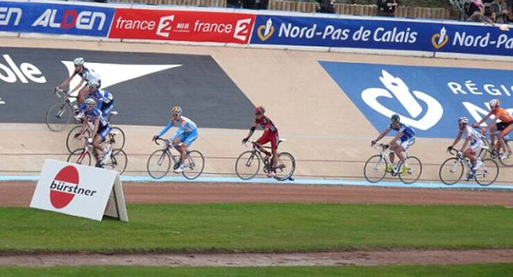Bürstner ist Radrenn-Sponsor des Wettkampfes Compiègne nach Roubaix