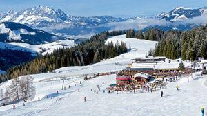 Das Skigebiet Laerchfilzkogel bei Fieberbrunn.