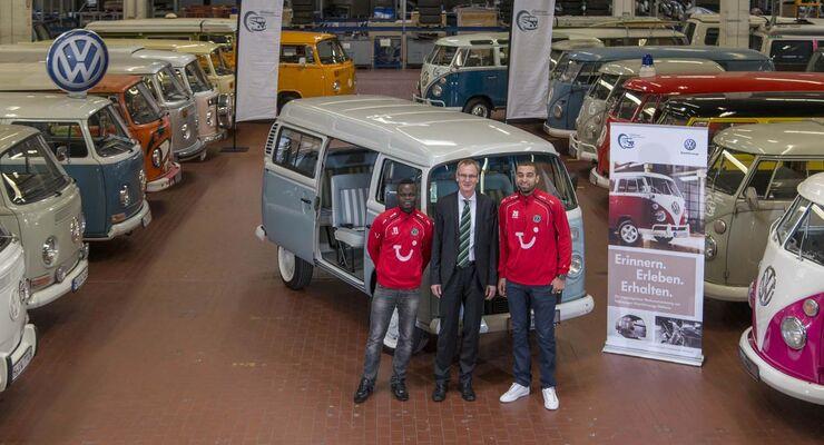 Didier Ya Konan (links), Eckhard Scholz und Felipe Trevizan Martins
