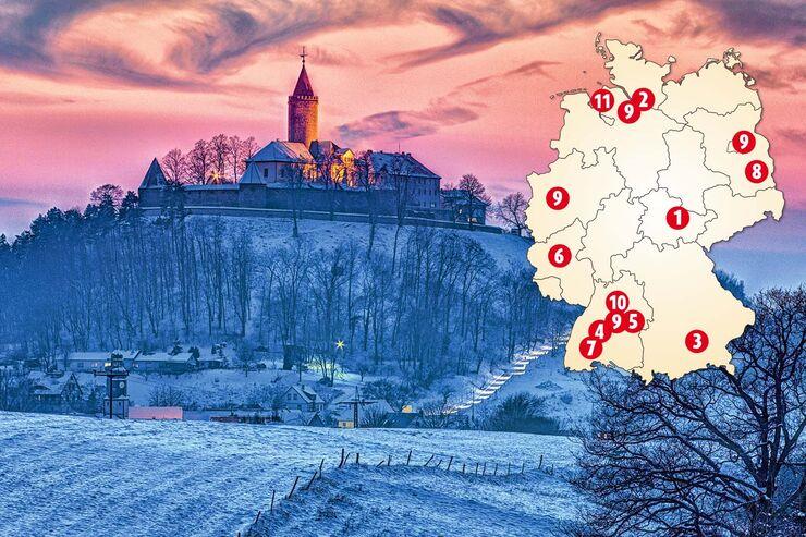 Eine schöne Aussicht in Leutchtenburg.