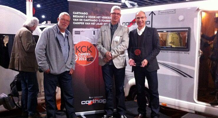 Fachjury kürt den Neuling zum Camper van het Jaar 2012 und lobt Karosseriebau und Grundrissinnovationen
