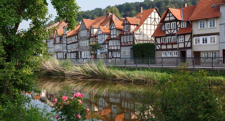 Fachwerkbauten ''Vor der Burg'' in Hann. Münden