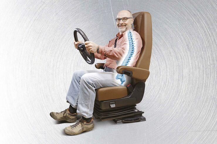 Fahrersitz Seitenansicht