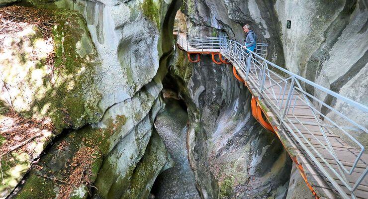 Fier-Schlucht in Rhone-Alpes