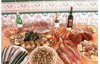 Fische und Meeresfrüchte aus der Region