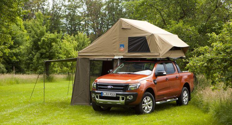 Ford präsentiert auf dem Caravan-Salon in Düsseldorf, den neuen Ford Ranger, ein Pick-up mit zuschaltbarem Allradantrieb.