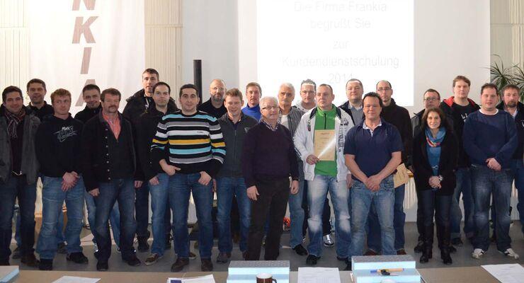 Frankia-Kundendienstschulung 2014