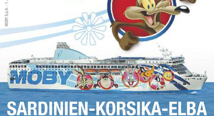 Für jedes gekaufte Ticket schenkt Moby Lines seinen Fahrgästen einen Gutschein im Wert von 20% für die nächste Überfahrt. Der Gutschein gilt für alle Fahrten Sardinien, Korsika und Elba.