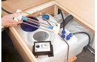 Hartes UV-Licht im Frischwassertank oder als Durchflussgeraet killt die Erreger.