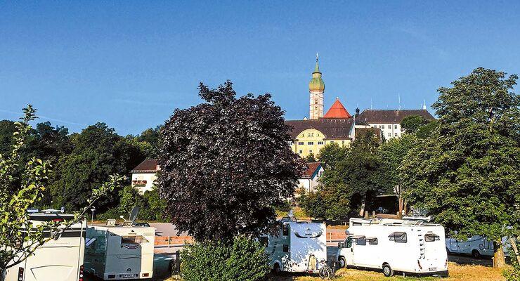 Himmlischer Segen auf dem Stellplatz Kloster Andechs