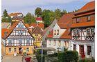 Hohnstein mit Fachwerkhäusern