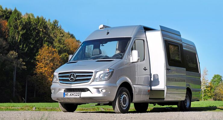 h nerkopf mercedes sprinter campingbus mit slide out 2018. Black Bedroom Furniture Sets. Home Design Ideas
