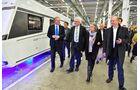 Hymer-Werk Bald Waldsee mit Martin Brandt, Gerda Hymer, Winfried Kretschmann