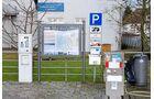 Infoschild auf dem Stellplatz am Hafen