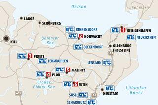 Holsteinische Schweiz Karte.Wohnmobil Tour Durch Die Holsteinische Schweiz Seen Mehr
