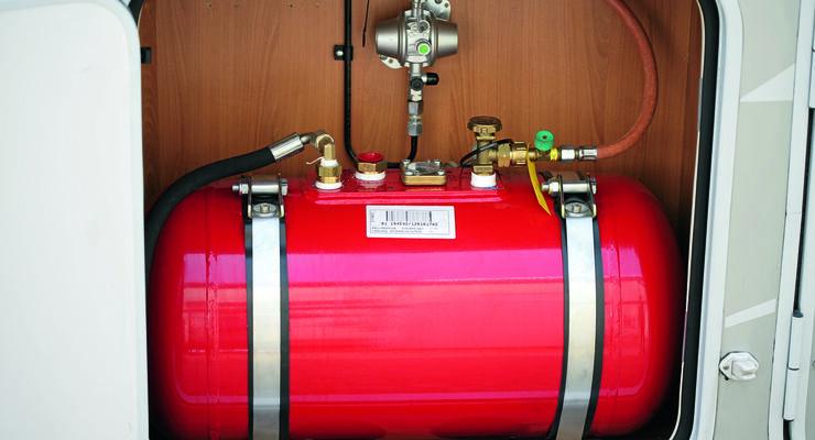 LPG für den Absorberkühlschrank