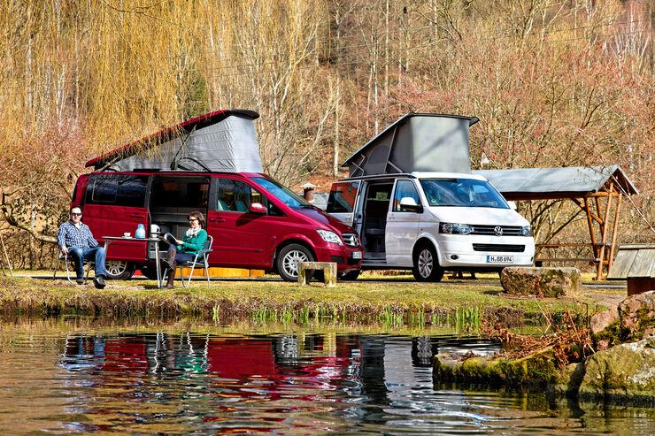 Mercedes Marco Polo/ VW California, Vergleichstest