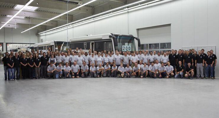 Morelo aus Schlüsselfeld im Landkreis Bamberg in Oberfranken fuhr Mitte Juli 2012 sein 200stes Fahrzeug aus der Produktionshalle.