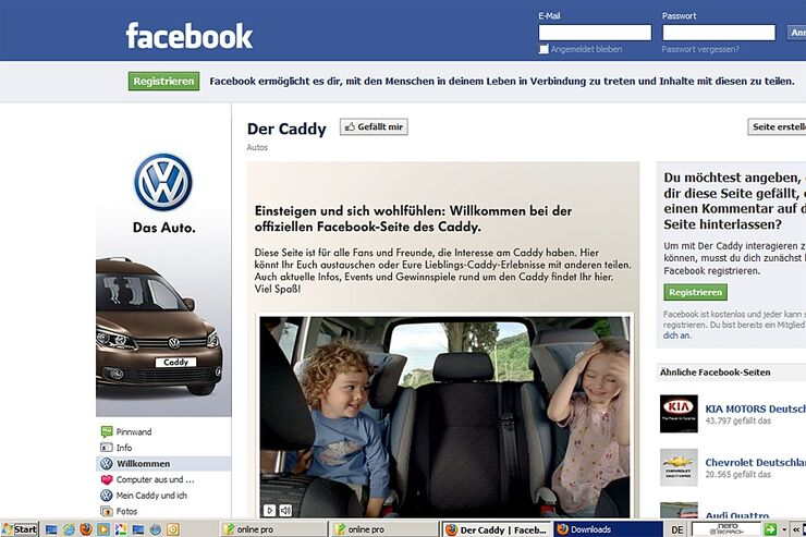 vw hat einen caddy an gewinnspiel preistr ger verlost promobil. Black Bedroom Furniture Sets. Home Design Ideas