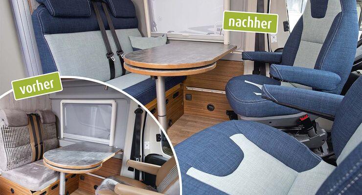 wohnmobil sitzpolster und bez ge erneuern promobil. Black Bedroom Furniture Sets. Home Design Ideas