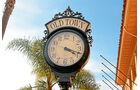 Nostalgisches Zeitzeichen in Santa Barbara.