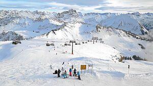 Pisten am Diedamskopf für Skifahrer und Snowboarder