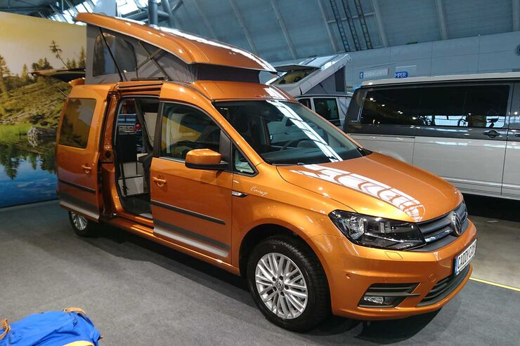 reimo vw caddy maxi camper g nstiger campingvan in pkw. Black Bedroom Furniture Sets. Home Design Ideas