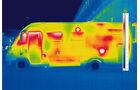 Rot zeigen sich im Thermografiebild die Isolationsluecken.