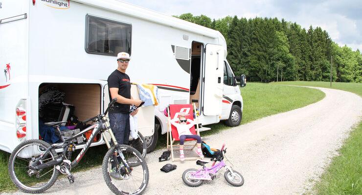 Seit Frühjahr diesen Jahres ist Sunlight offizieller Sponsor des Mountainbike-Profis Guido Tschugg aus Isny. Er darf nun die Vorzüge eines knapp 7,5 Meter langen Wohnmobils genießen.