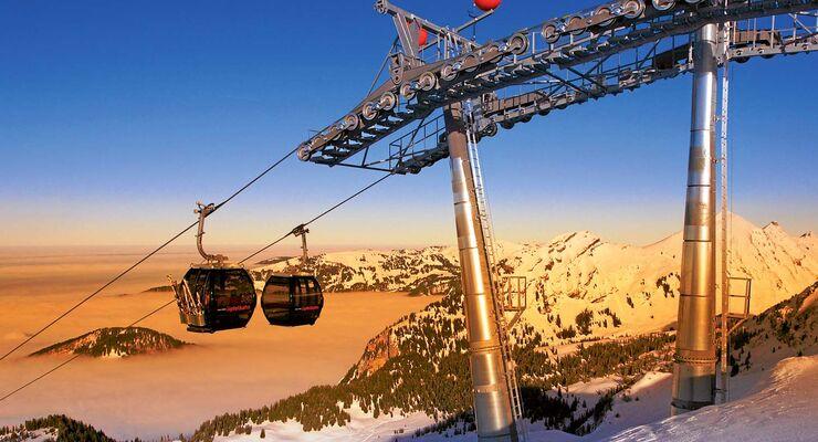 Skigebiet Damüls-Mellau.
