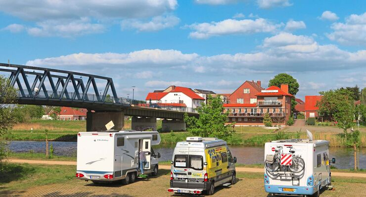 Stellplatz-Fokus Emsland Stellplatz am Amisia-Anleger