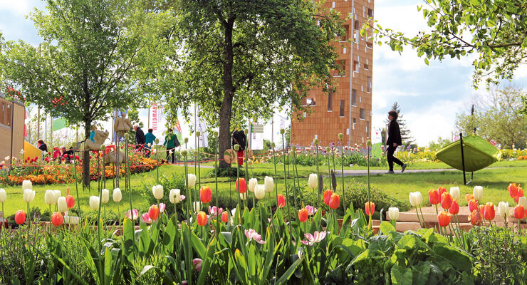 Touren-Tipps: Landesgartenschau, Tulpen
