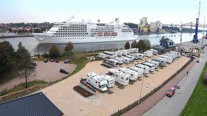 Wohnmobilhafen am Hafen-Café