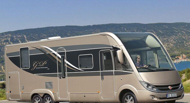 Zwei Premieren vermeldet Bürstner: die Brevio-Baureihe auf Fiat Ducato Basis und das Spitzenmodell Grand Panorama.